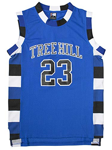 MOLPE Nathan Scott #23 Tree Hill Ravens Basketball Jersey S-XXXL Blue (M) (Tree Hill Ravens Jersey)