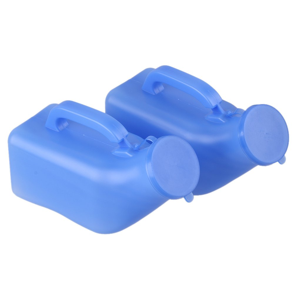 Blue 1000ml Portable Camping Travel Car Toilet Male Mens Urine Urinal Bottle Pee Pack of 2 by BQLZR