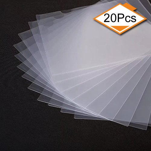 (20 Pack Clear Document Folder Copy Safe Project Pocket US letter/ A4 Size in Transparent)