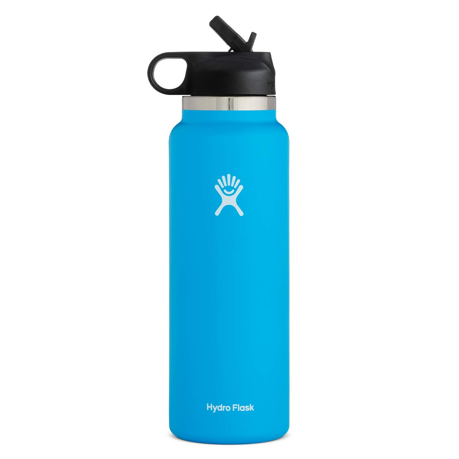 Hydro Flask Water Bottle - Wide Mouth Straw Lid 2.0 - Multiple Sizes & Colors
