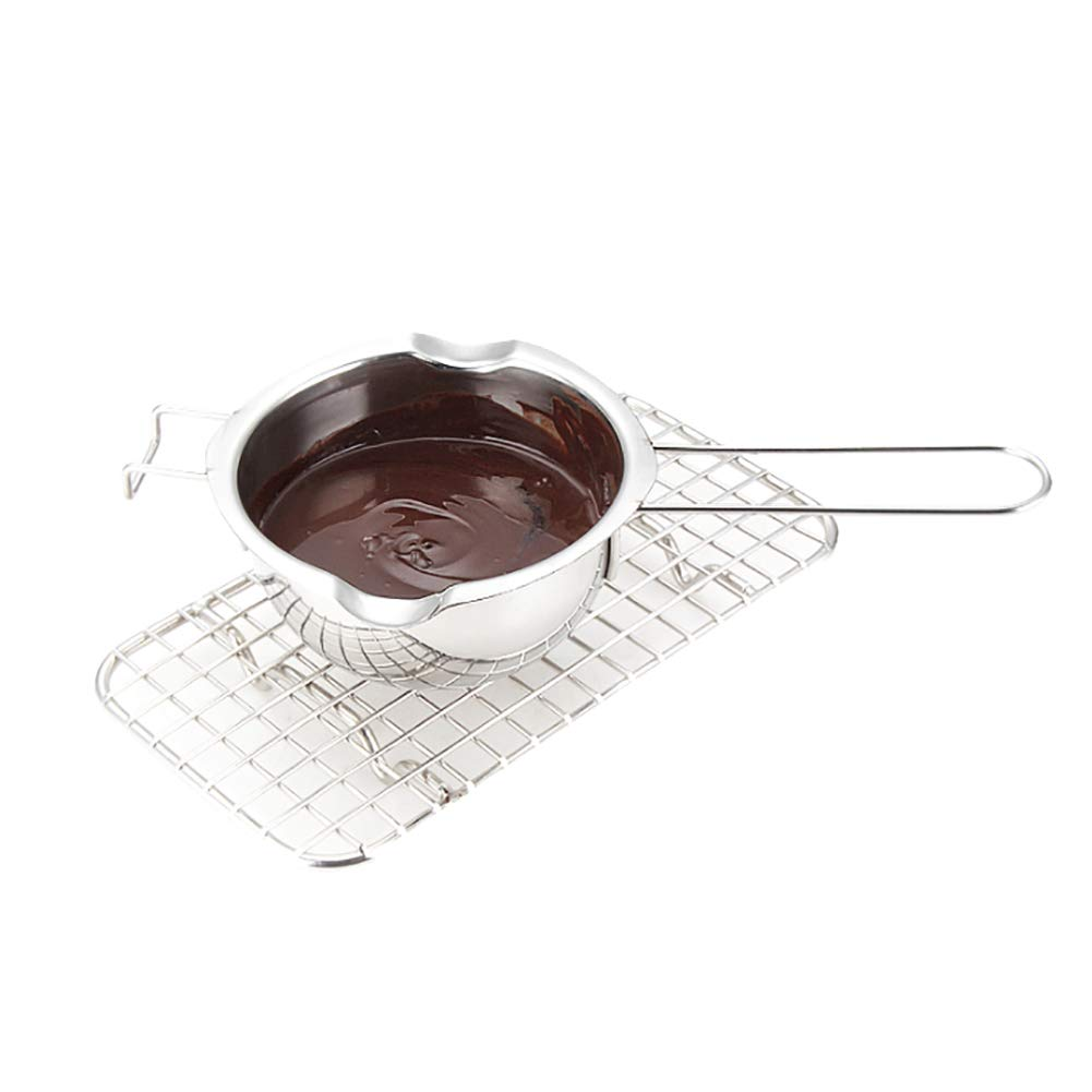 nuiOOui131 Stainless Steel Chocolate Butter Melting Pot Pan Milk Bowl Kitchen Baking Easy to Clean DurableTool Silver