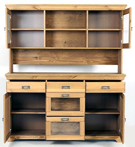 buffet sideboard kommode aus kiefernholz gelaugt ge lt schrank anrichte k chenausstattung. Black Bedroom Furniture Sets. Home Design Ideas