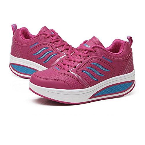 Rojo Tacón PU Rosa Negro de Punta Casual Primavera Exing Redonda Zapatos Mujer Gris Verano Para Blanco Plano Zapatillas Azul D Otoño Comfort tTxUz4q