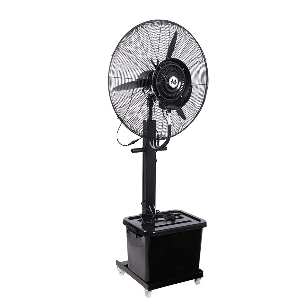 JIAYUAN Misting Fan Oscillating Fan Misting with 3 Cooling Speeds 90° Oscillated Pedestal Fans Copper Motor Standing Fan for Industrial, Commercial, Residential, and Greenhouse Outdoor Use by JIAYUAN