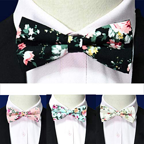 SFE Men's Fashion Bow Tie Floral Patten for, Groom, Groomsmen, Missions, Dances, Gifts by SFE-Men-bow ties (Image #3)