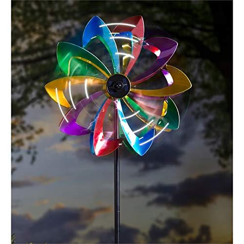 Evergreen Garden LED Flower 75 inch Metal Kinetic Solar Wind Spinner by Evergreen Garden (Image #3)
