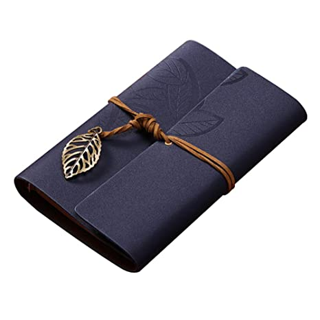Hosaire 1X Cuadernos de Anillas,Retro Vintage Ubierta de Cuero de la PU Cuaderno Agenda Bloc Estilo de Hoja Notebook Libreta Mano Escrito Viaje ...