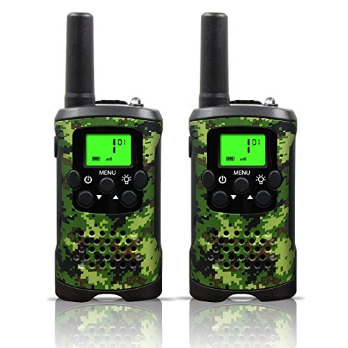 Review Kids Walkie Talkies, UOKOO 22 Channels and Back-lit LCD Screen (up to 6KM in open areas) Walk...