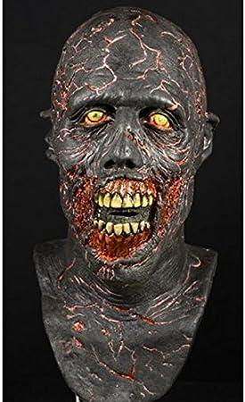 Adulto Deluxe carbonizado máscara Zombie quemado Walker: Amazon.es: Juguetes y juegos
