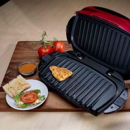 George Foreman 5-Serving Grill with Removable Plates, Red, GRP0004R by George Foreman Grillls (Image #2)