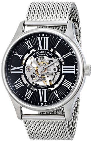 Stuhrling Original Men's 747M.02 Classic Atrium Elite Automatic Stainless Steel Watch