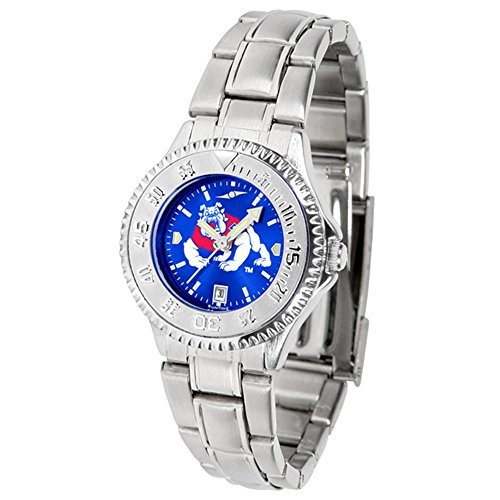 Fresno State Wrist Watch - New Linkswalker Fresno State Bulldogs Ladies' Competitor Steel Anochrome Watch