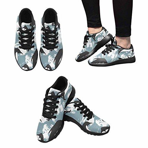 Interestprint Chaussures De Course De Trail Femmes Jogging Sports Légers Marche Athlétisme Sneakers Modèle De Pingouin Multi 1