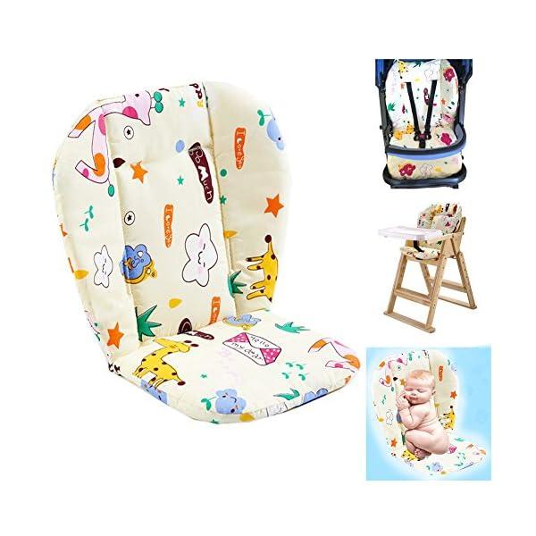 Bébé Poussette/Voiture/Chaise Haute Siège Coussin Doublure Tapis Pad Couvercle Protecteur Respirant (Girafe) 1