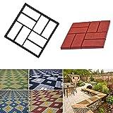 Concrete Molds Square Garden Paving Molds Stone Walk Maker Mould DIY Pavement Concrete Plastic Mold Paving Brick Sidewalk Mold Concrete Stone Pathway (Black)