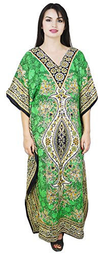 SKAVIJ Vestido - Túnica - para mujer Verde