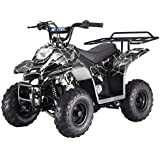 FamilyGoKarts Boulder 400XR Kids ATV in Black Spider