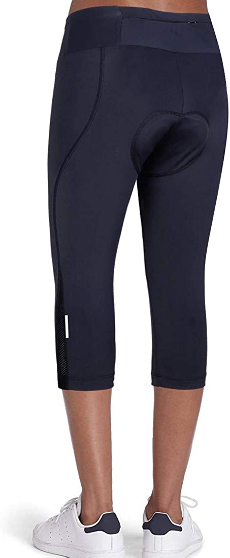 Long Bike Bicycle Pants with Wide Waistband Womens Cycling Pants 3D Padded Compression Tight