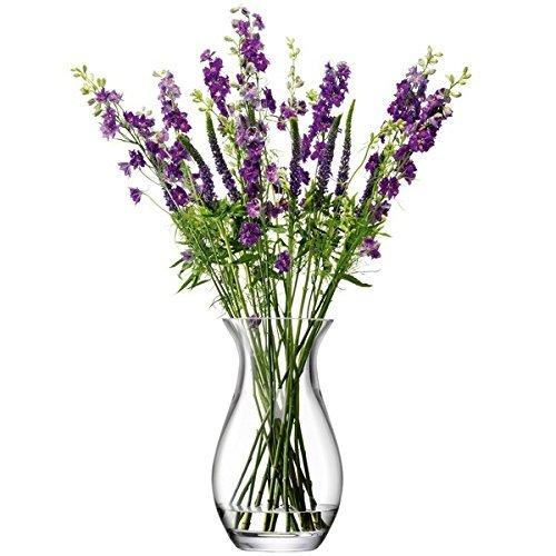 LSA (エルエスエー) G1135-28-301 ガラスフラワーベース (花器) クリア 高さ28cm B015UA2SNQ 高さ28cm|クリア