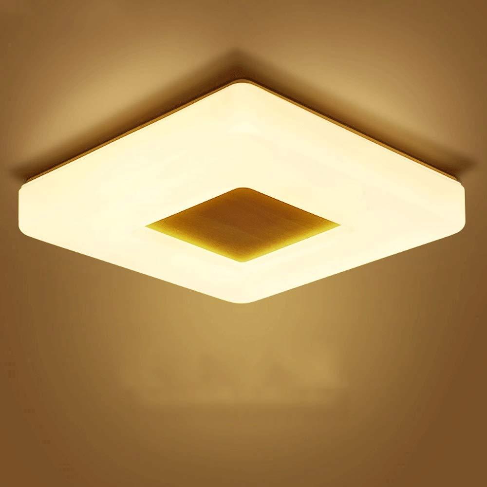 MRFX Dicke nur 6 cm led deckenleuchte schlafzimmer lampe einfache warme massivholz quadrat studie lampe gang lichter nordic lampen japanischen stil