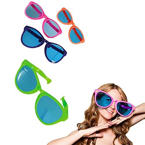 Une paire de lunettes géantes XXL pour fêtes et soirées - Ambiance disco déguisement année 80 - Soirée déguisée - lunettes de soleil