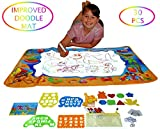 Best kids Water Toys Doodle Mat for Toddlers is FULLY EQUIPPED WITH DRAWING ACCESSORIES - Enjoy More Fun with Water Painting, Magic Water Drawing mat is Mess Free, Hang It on a WALL - EXCLUSIVE VERSIO