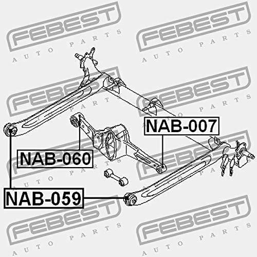 LAGER F/ÜR HINTERQUERLENKER NAB-060 Febest