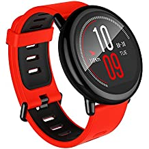 Amazfit Pace Multisport Smartwatch by Huami with All-Day Heart Rate and Activity Tracking, GPS, 5-Day Battery Life, US Service and Warranty (A1612 Red Band)