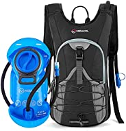 Miracol Hydration Backpack with 2L Water Bladder, Thermal Insulation Pack and Bladder Keeps Liquid Cool up to
