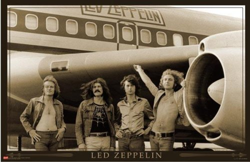 Laminated Led Zeppelin (Airplane) Music Poster Print - 36x24