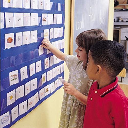Soulitem Lernressourcen Standard Pocket Chart Education für das Home Scheduling-Klassenzimmer