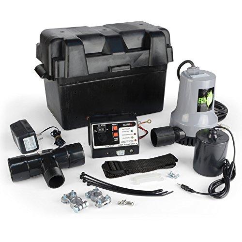 ECO-FLO Products EBBS Emergency Battery Backup Sump Pump System, 1/4 HP, 2,700 GPH - Emergency Power Sump Pump