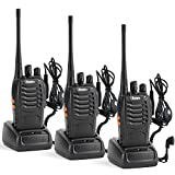Rivins Rv-9 Rechargeable Long Range Walkie Talkies 3 Pack with Earpiece UHF 400~470MHz