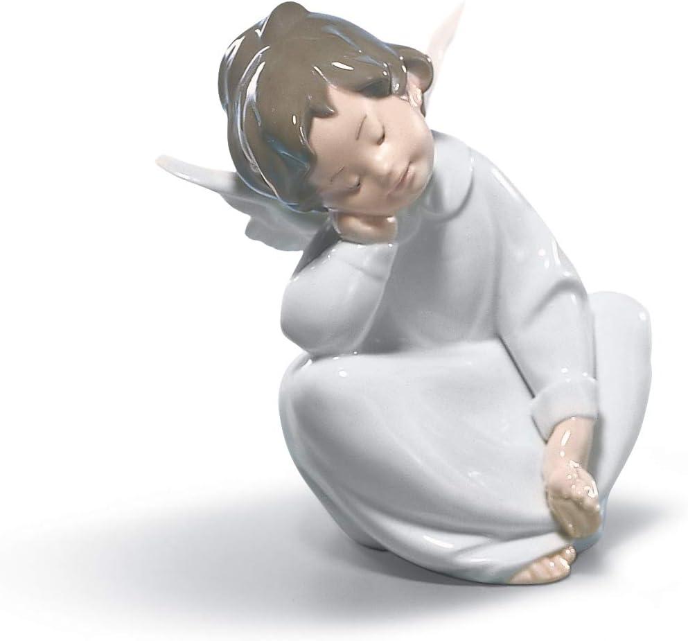 LLADR Angel Dreaming Figurine. Porcelain Angel Figure.