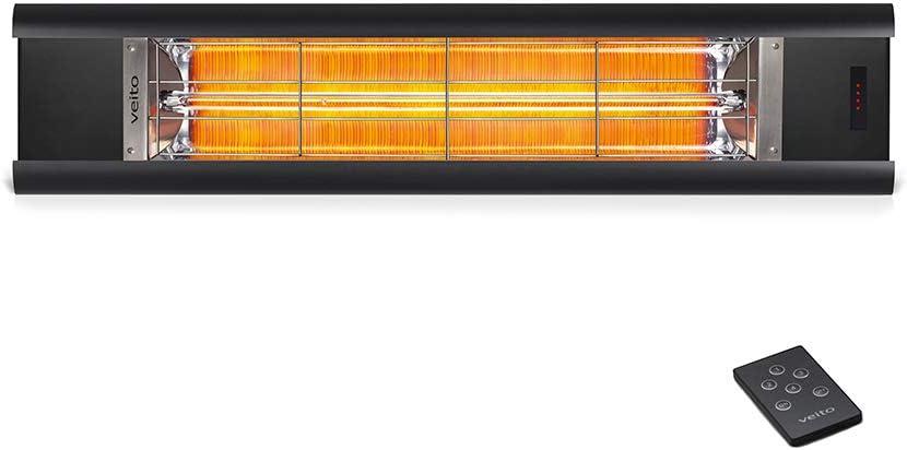 veito Aero S Elektro-Infrarot-Heizstrahler | Karbon (Carbon) | Terrassenstrahler | Wärmestrahler | 2500 Watt | elektrisch | mit Fernbedienung |…