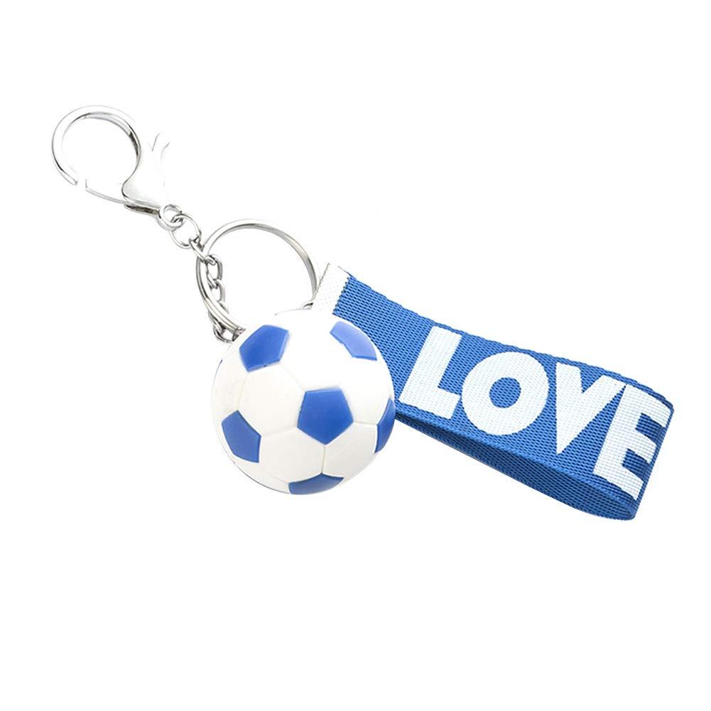 Skareop Llavero con forma de balón de fútbol para llavero de coche ...
