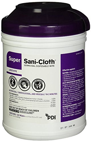 Professional Disposables Surface bUosE Disinfectant Super Sani-Cloth Wipes, 160 Count (5 Pack)