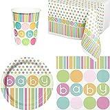 Pastel Baby Shower Party Lot de vaisselle jetable
