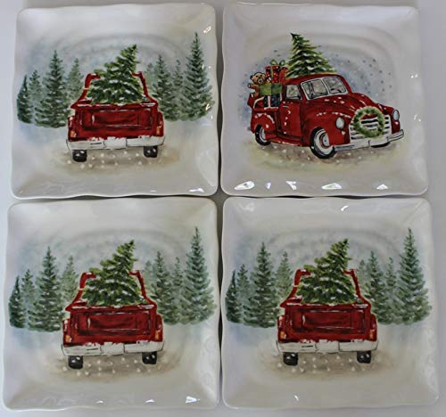 Maxcera Home for the Holidays Red Truck 8-1/2