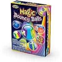 Creative Niños DIY Magic Bouncy Balls–Crea tu propia energía bolas Kit de manualidades para niños–incluye 20bolsas de polvo de vidrio multicolor y bolas de 5moldes–hace hasta 43