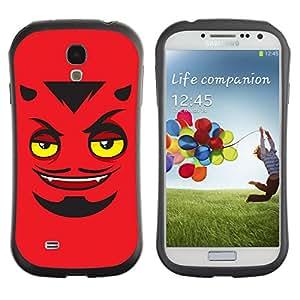 Hybrid Anti-Shock Bumper Case for Samsung Galaxy S4 / Devils Face