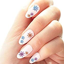 50 Sheets 3D Flower Nail Art Stickers Design Applique Tip Decal Manicure Decoration(different patterns) Made by MISSugar