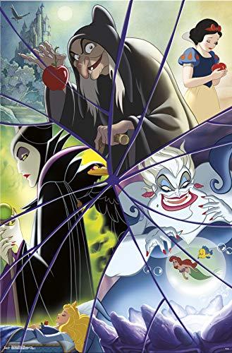 Trends International Disney Villains-Collage Clip Bundle Wall Poster, 22.375