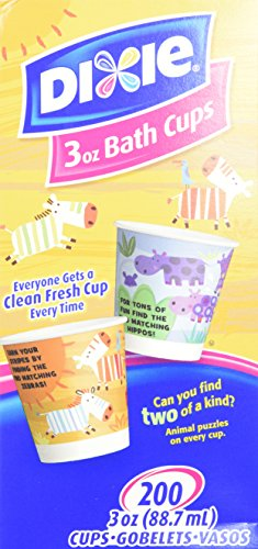 Dixie Bathroom Cups, 3 oz 200 ea, Assorted designs