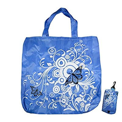 3 Pack Large Butterflies & Flowers Eco-friendly, Reusable Shopping Bag Foldable Grocery Bags