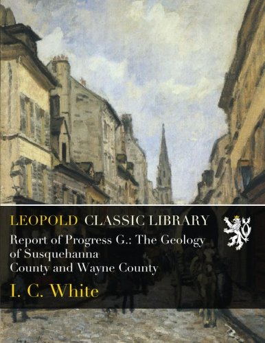 Download Report of Progress G.: The Geology of Susquehanna County and Wayne County pdf