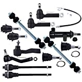 #10: SCITOO 13pcs Suspension Kit Ball Joint Tie Rod Ends Parts Control Armsfit 2001-2010 GMC Sierra 2500 HD 1999-2007 Chevy Silverado 1500 4WD 4x4
