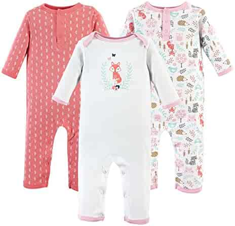 Hudson Baby Baby Cotton Union Suit, 3 Pack