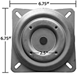 chairpartsonline Replacement Bar Stool Swivel - 6.75'' Square w/Round Bottom Plate - Pitched/Angled Profile - Made in the USA - S5446