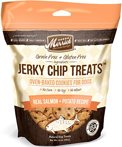 Merrick Jerky Chip Treats, Real Salmon Plus Potato Recipe